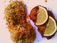 Narancsos-kakukkfüves kacsa petrezselymes barna rizzsel